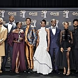 Pictured: Michael B. Jordan, Winston Duke, Lupita Nyong'o, Chadwick Boseman, Danai Gurira, Sterling K. Brown, Letitia Wright, and Ryan Coogler