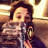 Even 21 and Over star Miles Teller is reading Divergent! Source: Instagram user milest87