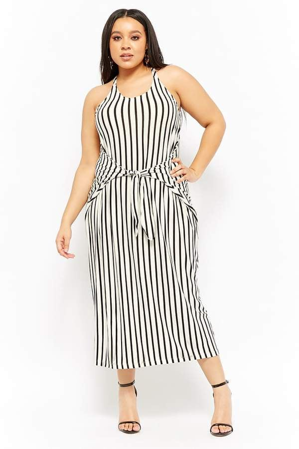 Forever 21 Striped Tie-Front Maxi Dress
