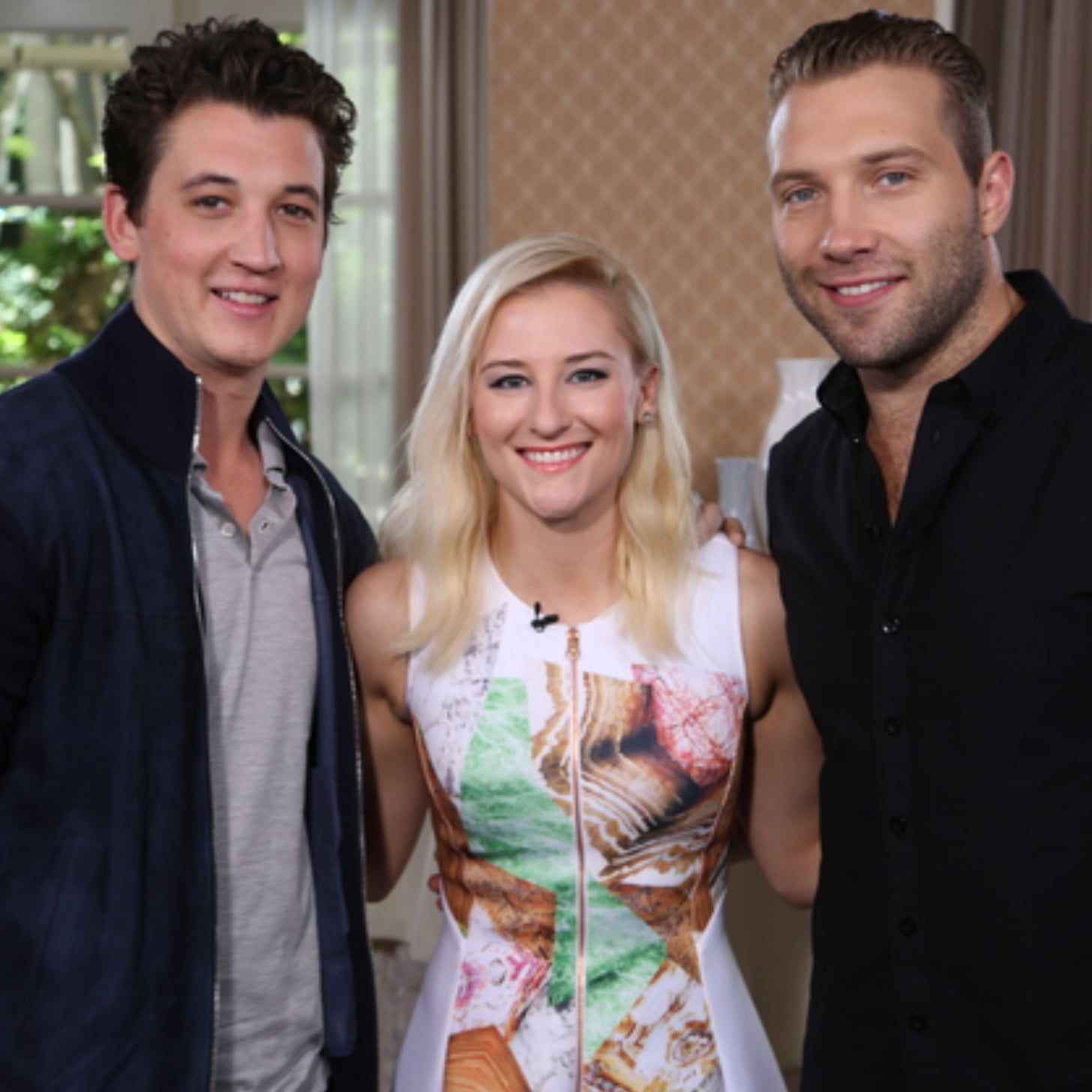 miles teller and jai courtney divergent interview video miles teller and jai courtney divergent interview video celebrity