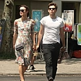 Keira Knightley and fiancé James Righton walked in NYC.