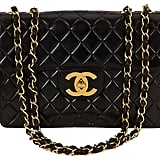 Chanel Black Quilted & Logo Jumbo Bag