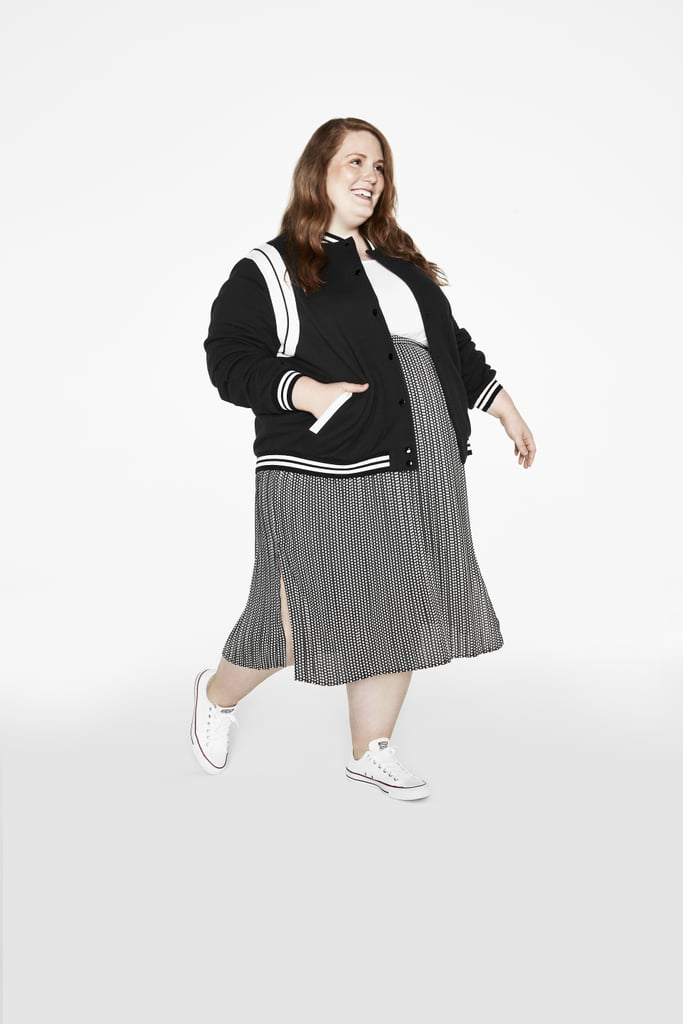 We like to think of this as the grown-up version of your school uniform — except uniform skirts were never this cute. Throw on our varsity-style bomber for the perfect casual combo that's more pulled together than your basic jeans.