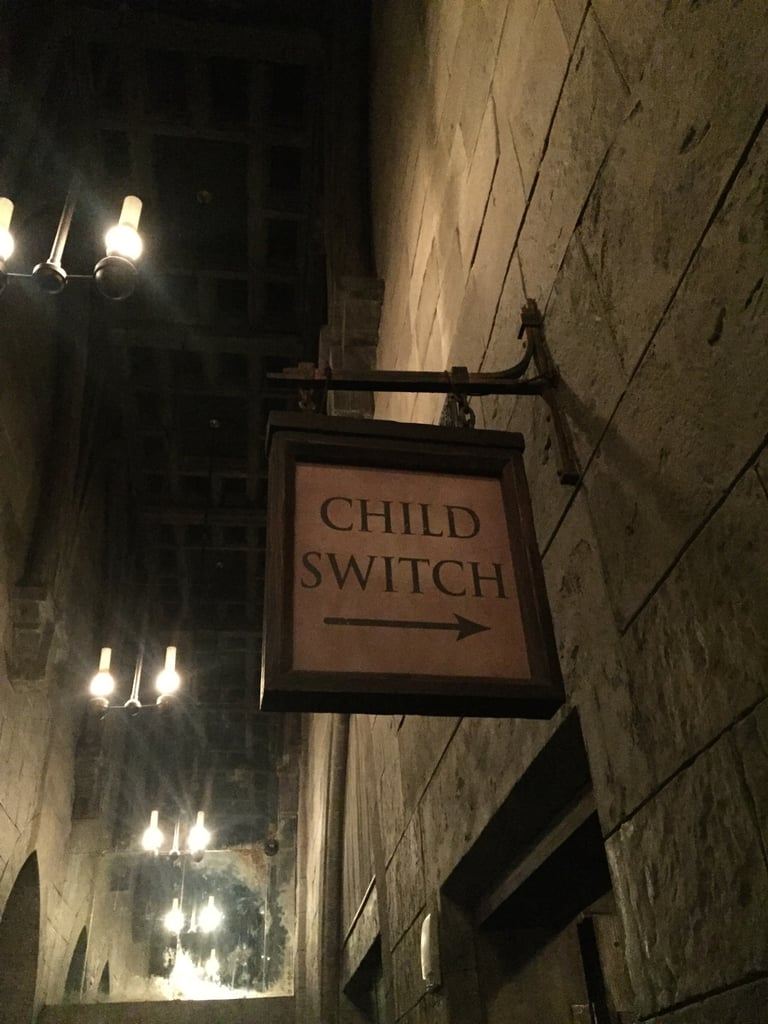 "You can use Universal's ""child switch"" when you ride the Forbidden Journey."