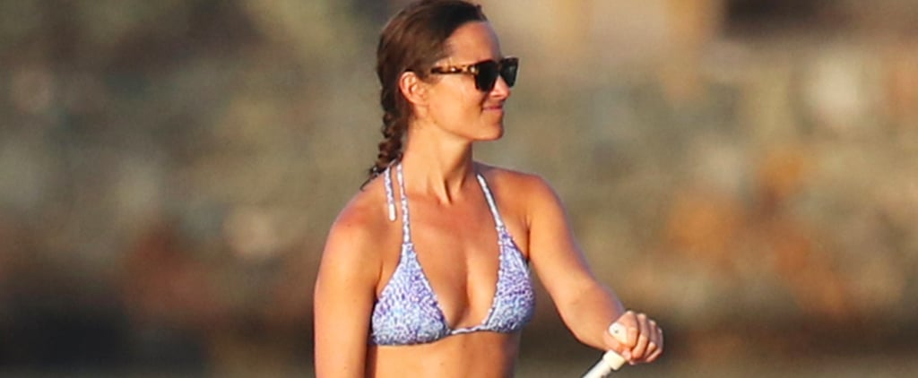 Bikini-Clad Pippa Middleton Goes Paddleboarding With Her Brother, James