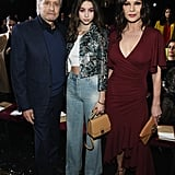 Michael Douglas, Carys Zeta Douglas, and Catherine Zeta-Jones at Michael Kors Collection Fall 2019