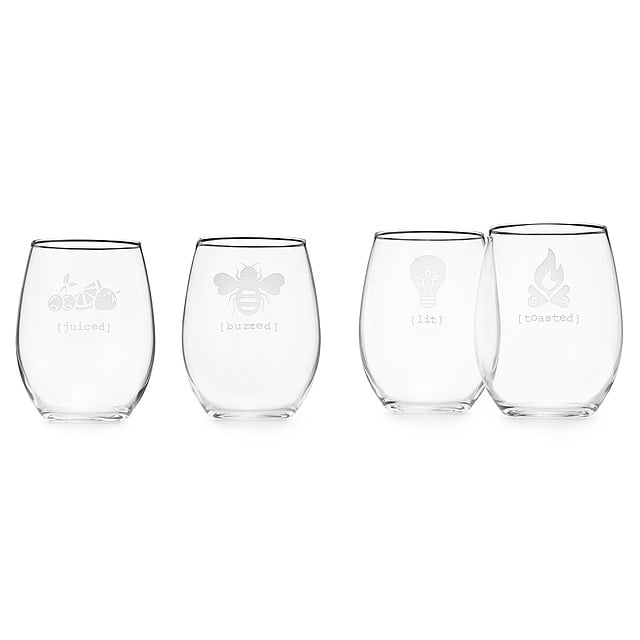 Under the Influence Stemless Wine Glass Set ($50)