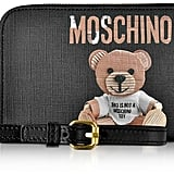 Moschino Teddy Bear Saffiano Leather Wallet