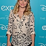 Kristen Bell, who voices a character in Disney's upcoming animated film Frozen, attended the D23 Expo in LA.