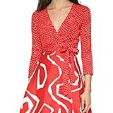 DVF Amelia Wrap Dress ($498)