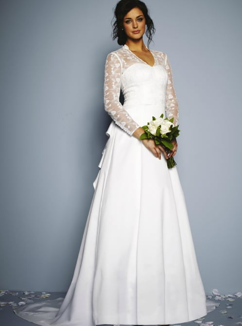 Very.co.uk Lace Long Sleeve Wedding Dress | Kate Middleton Inspired ...