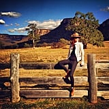 "Coco Rocha ""found her true calling"" as a chic cowgirl during a trip to the Australian Outback. Source: Instagram user cocorocha"