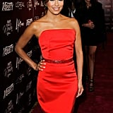 Eva's dressed popped on the the red carpet.