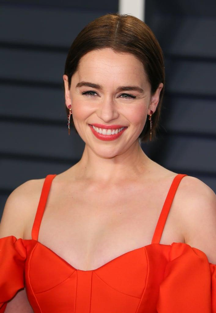 Emilia Clarke's Soft Red Lipstick