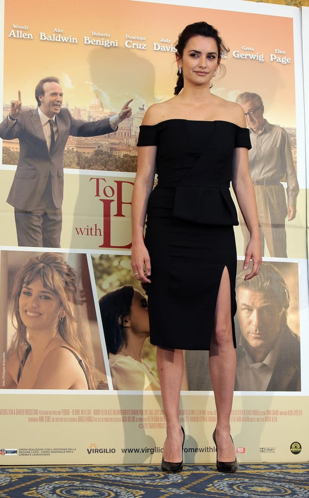 Penelope Cruz posed for the press in Rome.