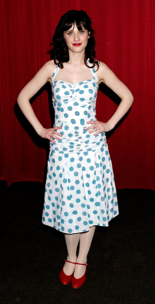 Zooey Deschanel posed at the What a Pair! Cabaret Extravaganza Benefit for the cause in LA in March 2004.