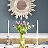 Bouquet of Fresh Purple Tulips