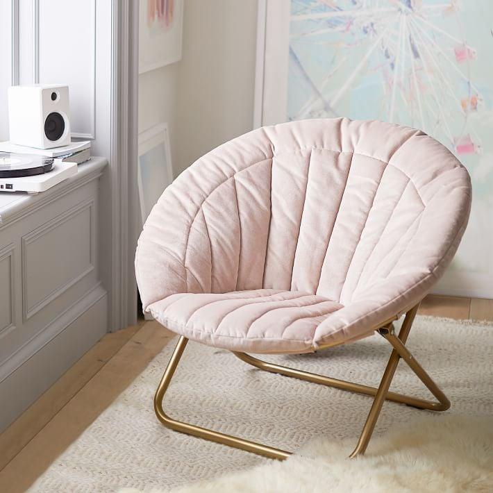 Velvet Channel Stitch Hang-A-Round Chair
