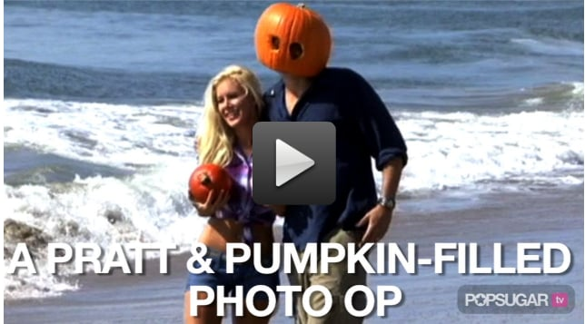 Video of Heidi Montag and Spencer Pratt Posing With Pumpkins on the Beach For Halloween