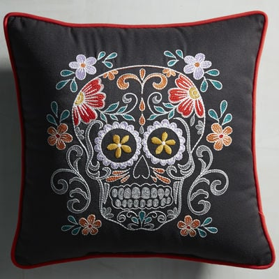 pier one throw pillows Pier 1 Imports Dia de los Muertos Skull Pillow ($35) | Easy  pier one throw pillows