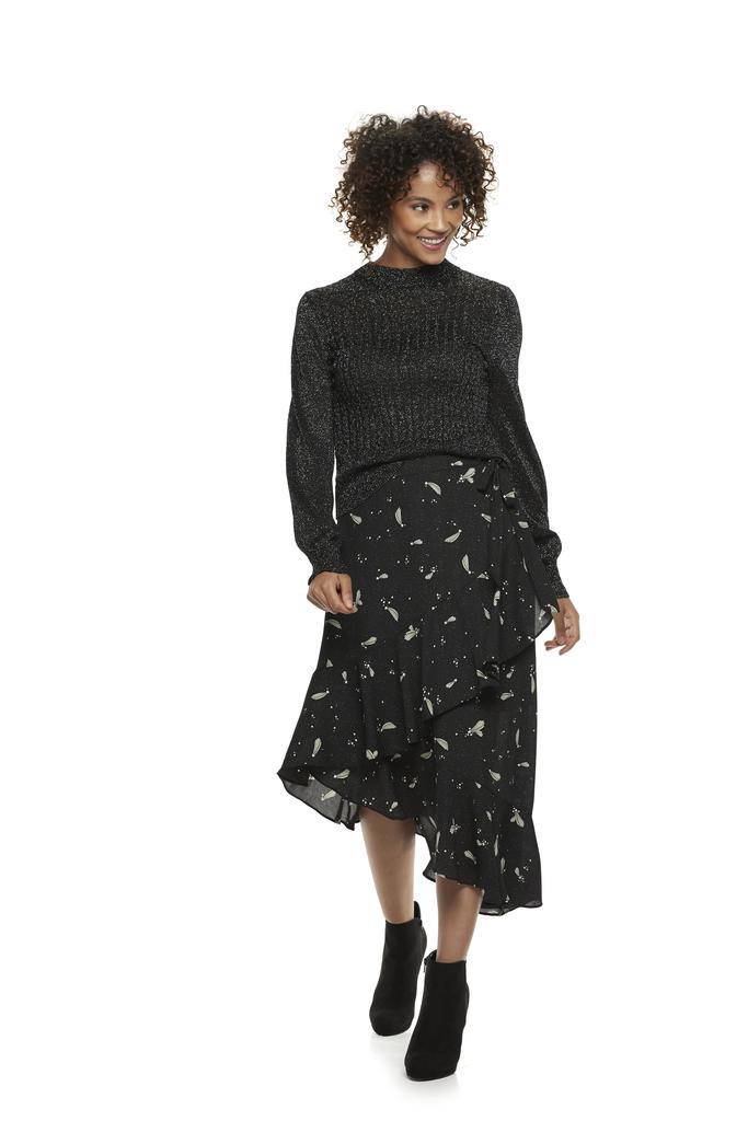 Drapey Asymmetrical Wrap Skirt