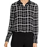 Shop a Similar Contrast-Collar Button-Up Shirt