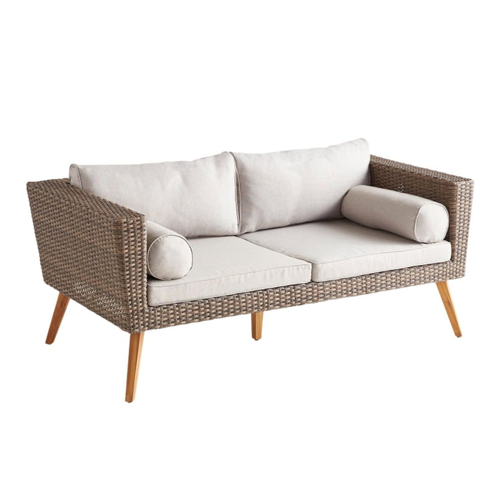 Bari Chateau Latte Loveseat With Cushions | Pier 1 ...