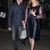 Kate Bosworth and her husband, Michael Polish, walked through LAX airport in LA on Monday.