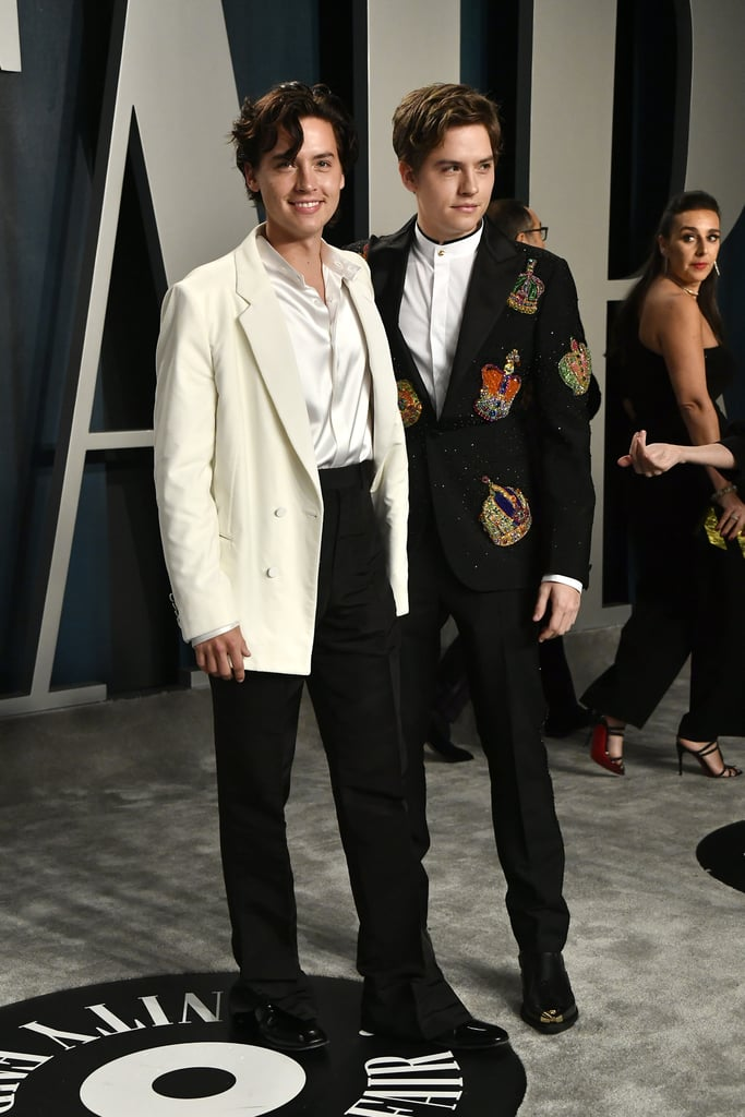 Cole and Dylan Sprouse at the Vanity Fair Oscars Afterparty 2020