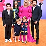 Pictured: Seth Blackstock, Savannah Blackstock, Remington Blackstock, River Blackstock, Kelly Clarkson, and Brandon Blackstock