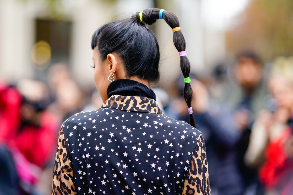 Stay-at-Home Summer Hair Trend: Slicked-Back Ponytail With Multiple Elastics
