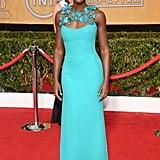 Lupita Nyong'o was the belle of the ball in her teal Gucci gown.