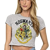 Harry Potter Hogwarts Logo Crop Top T-Shirt
