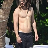 Jared Leto sported a muscular frame during his trip to Mexico.