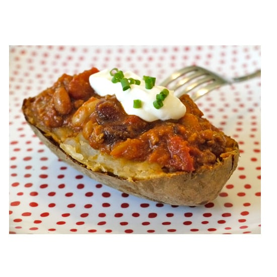 Four Bean Chili Baked Potato