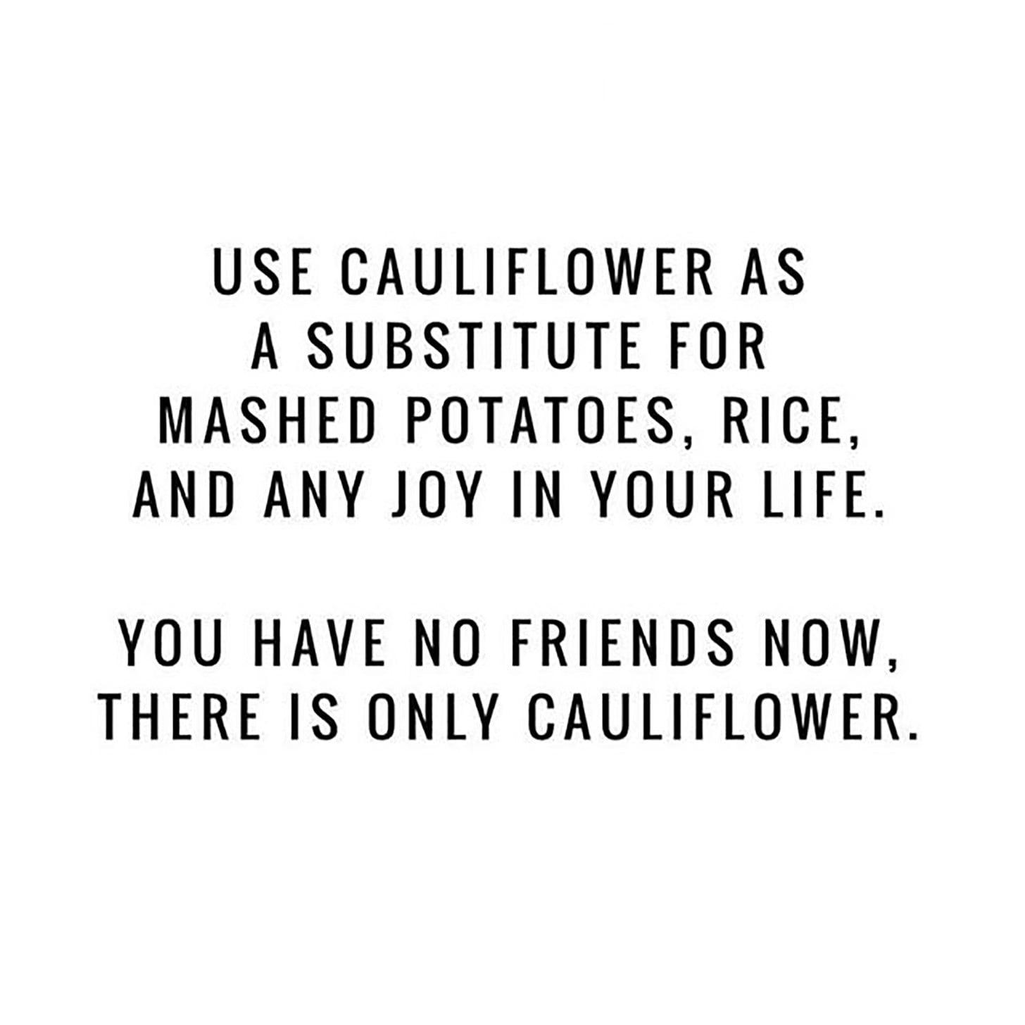 Cauliflower Memes | POPSUGAR Fitness
