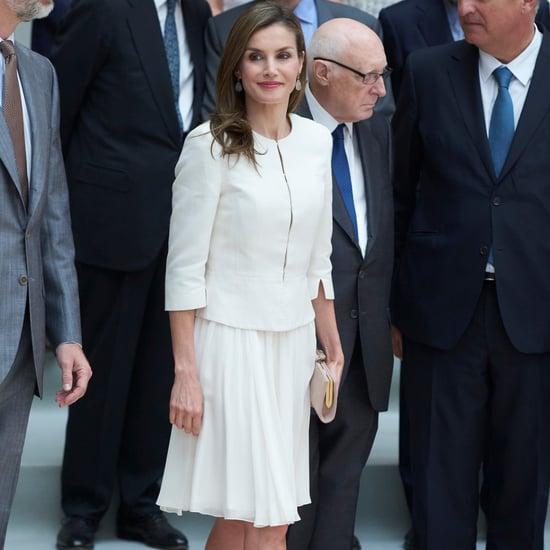 Queen Letizia Wearing White June 2017