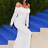 Kim Kardashian at the Met Gala in 2017