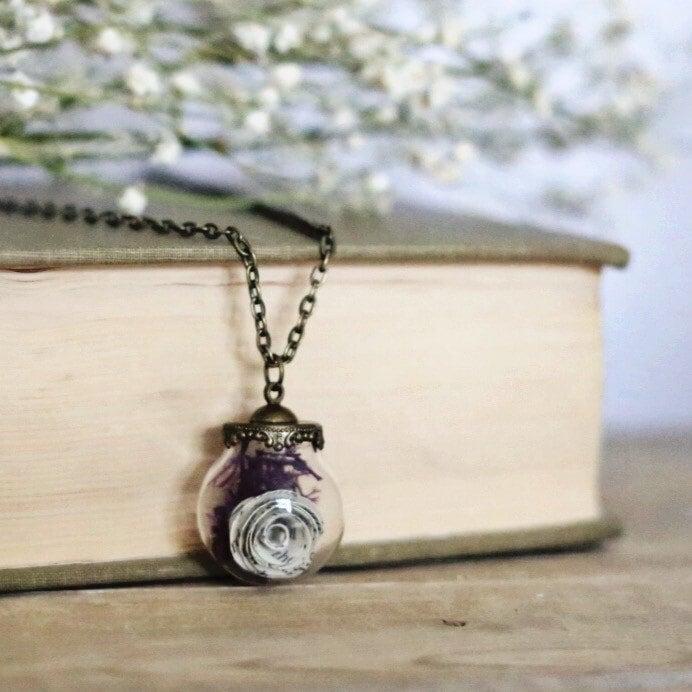 Book Page Terrarium Necklace