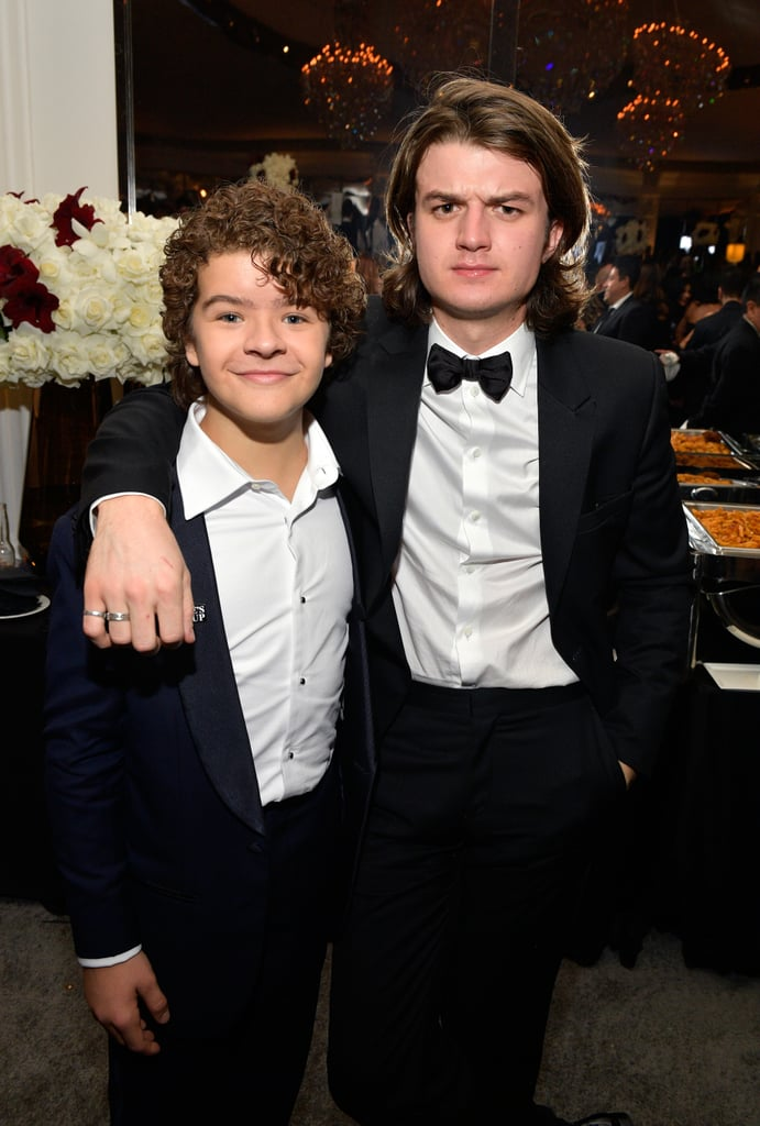 """We've already established that Steve and Dustin are the Stranger Things duo we deserve, but their offscreen bromance is — dare we say it — even cuter. Joe Keery, who stars as Steve Harrington on the hit Netflix series, often shares sweet behind-the-scenes moments with Gaten Matarazzo that can easily put a smile on your face. Whether they're heading to their favorite restaurants or serving looks on the red carpet, their brotherly chemistry is apparent. Thankfully, Gaten confirmed that season three of Stranger Things — which drops on July 4 — will feature even more shared screen time between Steve and Dustin. """"You definitely see more of that,"""" he told Entertainment Weekly. """"That's what I really like about [the show's creators] Matt and Ross: They know what fans like and they roll with it."""" Honestly, we can't get enough of these two! Scroll through to see some of their adorable friendship moments ahead.      Related:                                                                                                           20 Times Stranger Things' Joe Keery Looked Really Sexy With His Hair Pushed Back"""