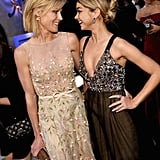 Julie Bowen and Sarah Hyland traded smiles.