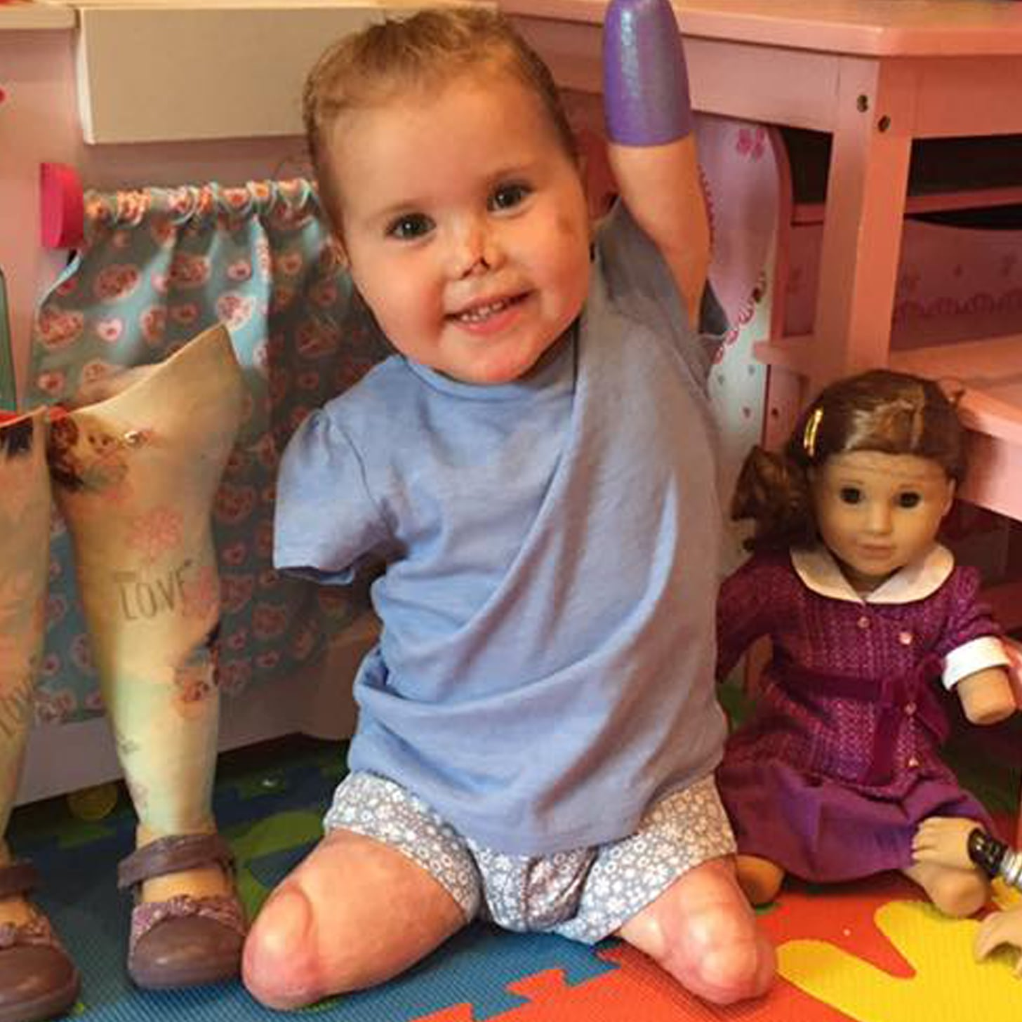 quadruple amputee toddler gets american girl doll video - Ameeican Girl Doll