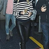 Gwyneth Paltrow Wearing a Striped Sweater and Converse