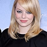 Emma Stone gave a smile at the Berlin photocall for The Amazing Spider-Man.