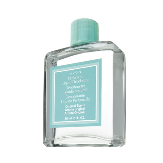 Sick of deodorant marks on your clothes? Then pick a liquid deodorant, like Avon Perfumed Liquid Deodorant ($4).