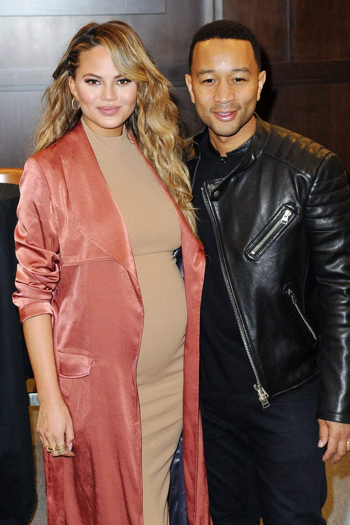 In February 2016, Chrissy had the support of her husband at her book signing event in LA.