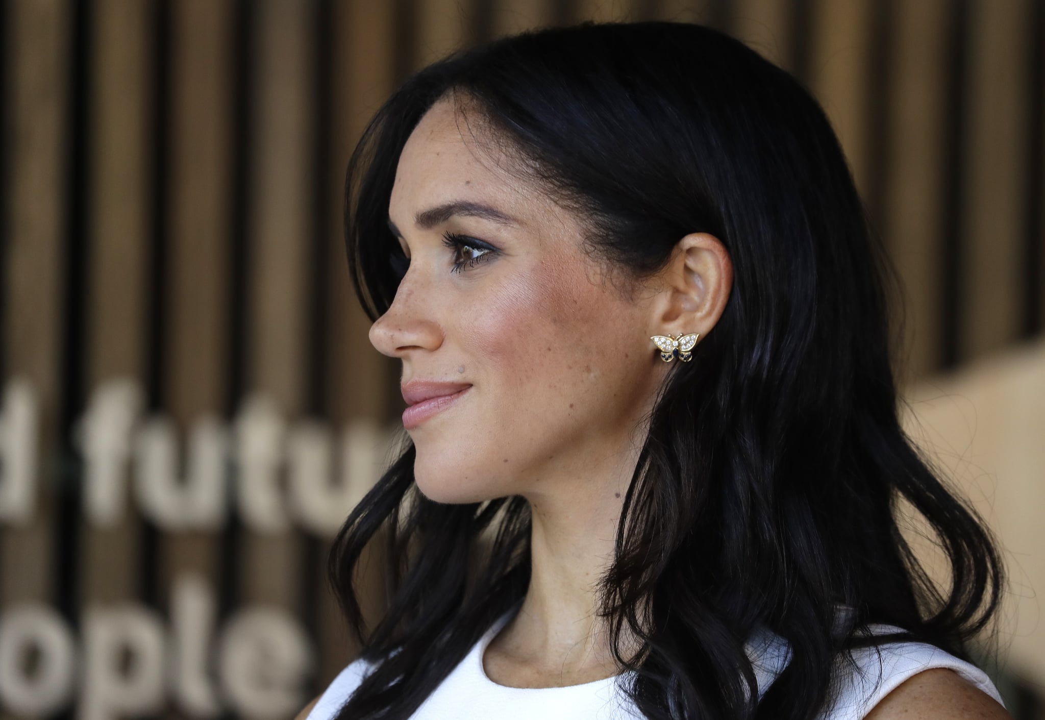 SYDNEY, AUSTRALIA - OCTOBER 16:  Meghan, Duchess of Sussex attends a ceremony at Taronga Zoo on October 16, 2018 in Sydney, Australia. The Duke and Duchess of Sussex are on their official 16-day Autumn tour visiting cities in Australia, Fiji, Tonga and New Zealand.  (Photo by Kristy Wigglesworth – Pool/Getty Images)