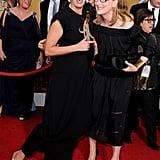 Emma Thompson and Meryl Streep shared a silly moment.