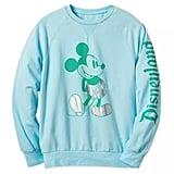 Disney Arendelle Aqua Mickey Mouse Metallic Sweatshirt For Adults