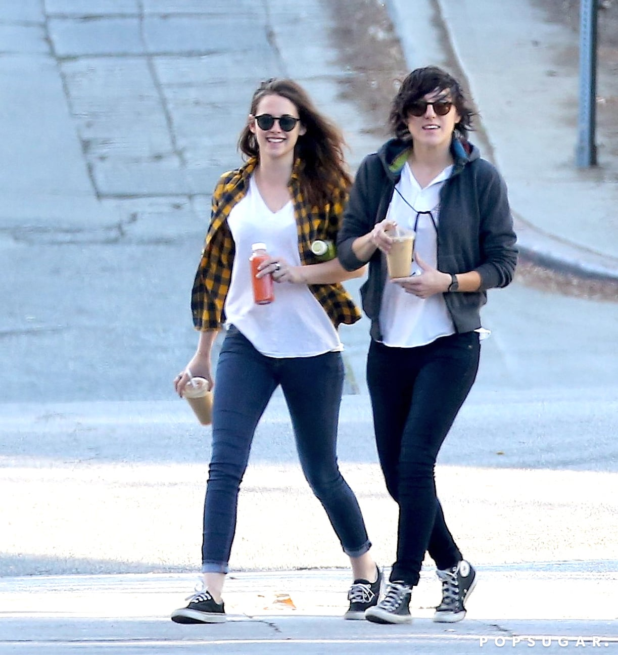 Kristen Stewart was all smiles while grabbing coffee with a friend in LA on Saturday.